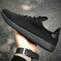 ADIDAS Tennis Hu Weaving Tide Brand Fashion High Quality Sneakers F-CSXY full black