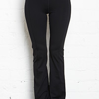 FOREVER 21 Fit & Flare Yoga Pants Black/White X-Small