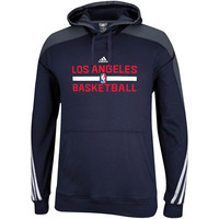 adidas Los Angeles Clippers Practice Pullover Hoodie - Navy Blue