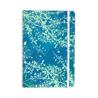 "Iris Lehnhardt ""Twigs Silhouette Teal"" Aqua Green Everything Notebook"