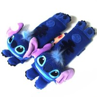 Disney Lilo & Stitch Multi Use Auto Car seat belt cover Plush Seat Shoulder Pad Cushion 2 pcs One Pair