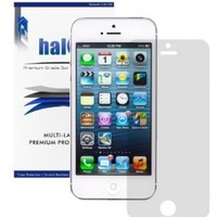 Halo Screen Protector Film Clear Matte (Anti-Glare) for Apple iPhone 5 / 5S / 5C [3-Pack] - Lifetime Replacement Warranty
