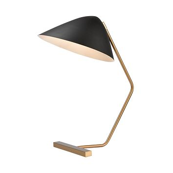 Vance Table Lamp in Brass and Black