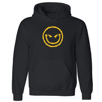 "Zexpa Apparelâ""¢ Smiley Evil Face Unisex Hoodie Cool Halloween Costume Graphic Hooded Sweatshirt"