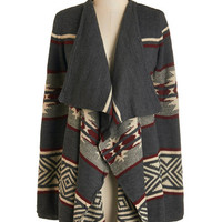 ModCloth Rustic Long Sleeve A Fireplace to Call Home Cardigan