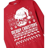 Meowy Christmas Cat Ugly Sweater