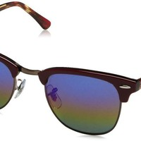 Ray-Ban RB3016 1222C2 51 mm Clubmaster Mineral Flash Bordeaux Rainbow Sunglasses
