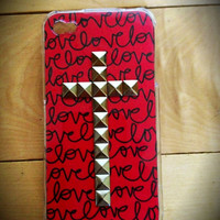 Love studded cross case for iPhone 4/4s and 5-limited edition
