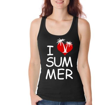 I Love Summer Funny Womens Tank Tops