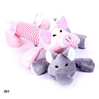 Lovely Dog Toys Pet Puppy Chew Squeaker Squeaky Plush Sound Pig & Elephant Toys
