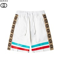 GG Men's and Women's Double G Contrast Striped Shorts