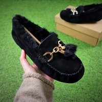 Ozlana Ugg The Fluffy Loafer Black Slippers - Sale