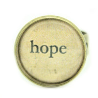 Vintage Retro Inspirational Style Ring Quirky Kitsch Gift Hope
