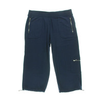 Style & Co. Womens French Terry Cargo Capri Pants