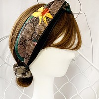 GUCCI Popular Women Retro Jacquard Multicolor Sport Headwrap Headband Head Hair Band