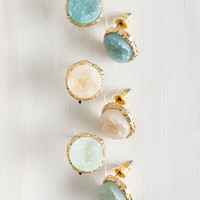 Boho Return to Throne Earring Set in Sky Tones by ModCloth
