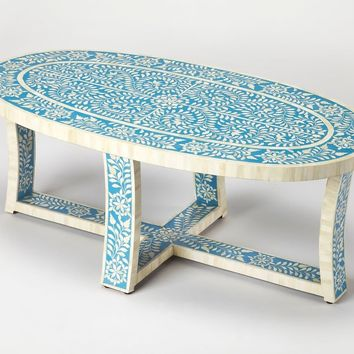 Butler Sabina Blue Bone Inlay Coffee Table