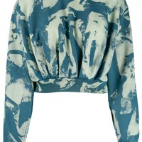 Ladies Bleach Cropped Sweater by OFF-WHITE