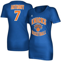 Carmelo Anthony New York Knicks adidas Women's Name and Number T-Shirt – Royal Blue