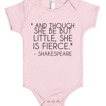 She Is Fierce-Unisex Light Pink Baby Onesuit 00