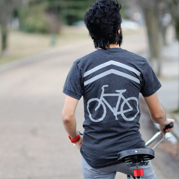 Share the Road - bicycle shirt for men | men's bike lane tshirt - bike sharrows screenprint - fathers day | for dad