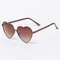 With Love From CA New Bronze Metal Heart Sunglasses - Womens Sunglasses - Bronze - One