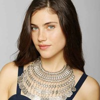 Silk Road Falling Coin Necklace- Silver One