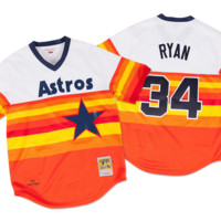 Mitchell & Ness Nolan Ryan 1980 Authentic Jersey Houston Astros In White/Orange