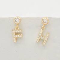 Initial Stud Earrings - Gold
