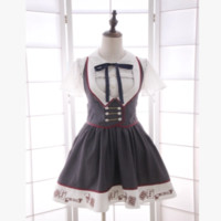 Japanese sweet students vest dress