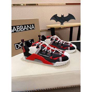 D&G Men Fashion Boots fashionable Casual leather Breathable Sneakers Running Shoes06170pp