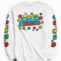 Lifes A Beach Flower Long Sleeve Tee - Urban Outfitters