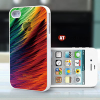 iphone case iphone 4s case iphone 4 cover white iphone case beautiful  colorized iphone logo design printing
