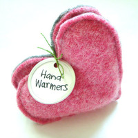 Hand Warmers PINK Hearts for Breast Cancer Awareness Gift Handwarmers Stocking Stuffer