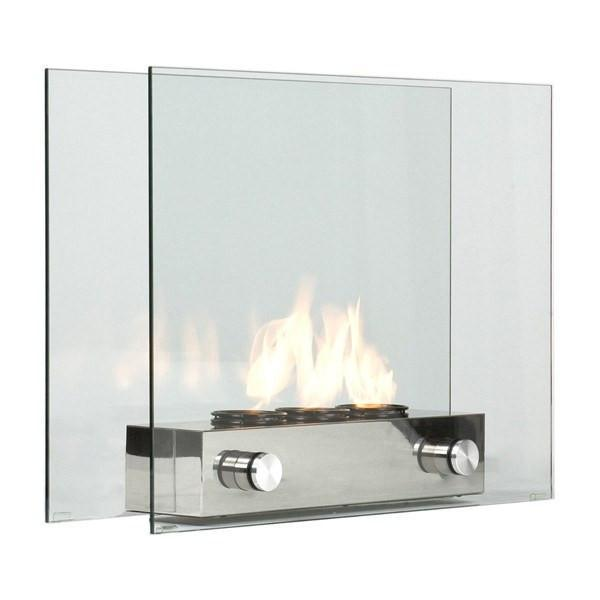 Image of Portable Tempered Glass Fireplace