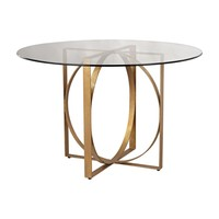 Box Rings Entry Table Gold Leaf