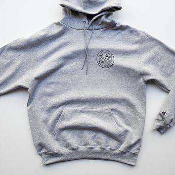 BAD DADS CHAMPION CIRCLE LOGO HOODIE- GRAY