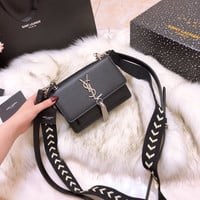 YSL Leather Mini Crossbody Shoulder Bag