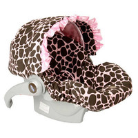 Ginny Giraffe with Ruffle Infant Car Seat Cover