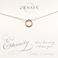 """""""Eternity"""" Personalized Sterling Silver Circle Necklace 