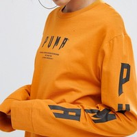 Puma Exclusive To ASOS Statement Oversized Long Sleeve T-Shirt at asos.com