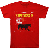 Taking Back Sunday Men's  Happiness Is T-shirt Red