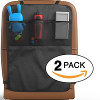 Baby Everest Kick Mats 2 Pack With Pocket Organizers - Premium Car Seat Back Protector and Cover - For Car, SUV & Auto Backseat Protection, Fits All Cars - *Satisfaction Guaranteed Or Your Money Back*