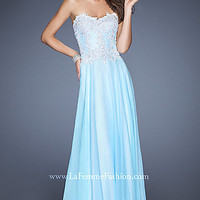 La Femme Floor Length Prom Dress 19801