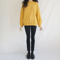 80s Vintage Pullover Levi Yellow Sweater for Men or Women