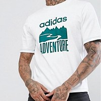 ADIDAS Fashionable Men Women Casual Print Short Sleeve T-Shirt Top