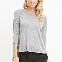Ribbed-Panel Slub Knit Top