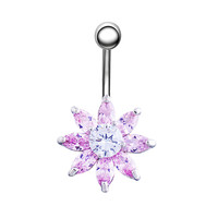 New Charming Dangle Crystal Navel Belly Ring Bling Barbell Button Ring Piercing Body Jewelry = 4661633604