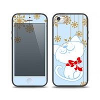 The Happy Winter Cartoon Cat Skin Set for the iPhone 5-5s Skech Glow Case