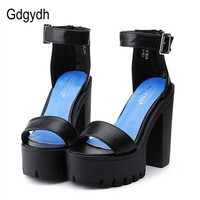 HEELS SHOES Summer Sandals for Women Thick Heels Platform Casual Shoes